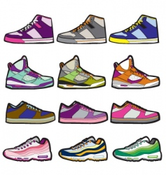 sneaker sets illustration vector image vector image