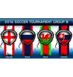 Soccer euro group b vector