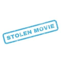 Stolen movie rubber stamp vector
