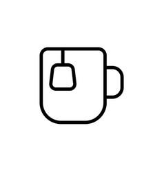 Thin line tea cup icon vector