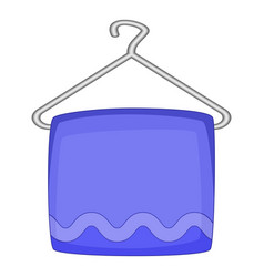 Towel on hanger icon cartoon style vector