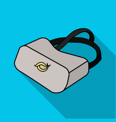 Virtual reality glasses icon in flate style vector