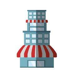 Building store market shadow vector