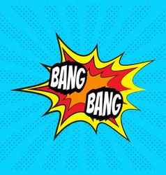 Comic speech bubble bang vector
