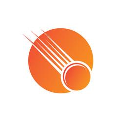 circle tennis ball fast logo image vector image