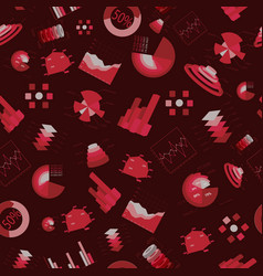 charts seamless pattern vector image