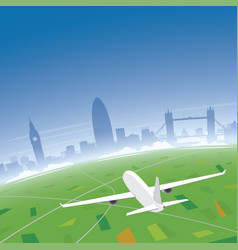 london skyline flight destination vector image