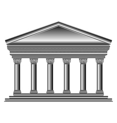 Corinthian temple vector