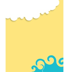 Sea to sky landscape cut out vector