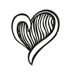 Fantasy heart in tattoo style vector