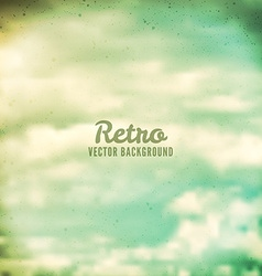Retro grunge clouds vector image