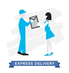 Express delivery symbols mail delivery vector