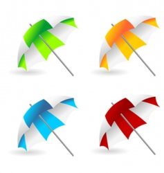 Beach umbrellas vector