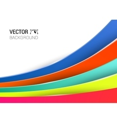 3d abstract lines full color background vector