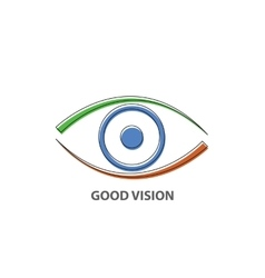 Good vision icon vector