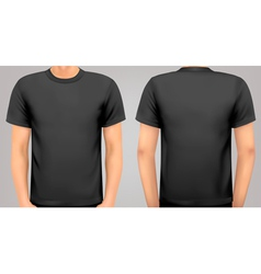 A male body with a black shirt on vector image vector image