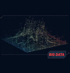 Abstract 3d big data visualization vector