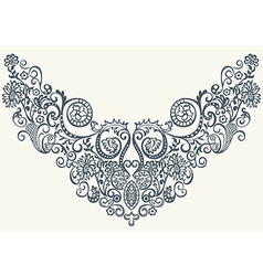 abstract ornamental floral pattern vector image vector image