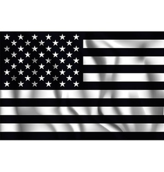 Black and White American Flag Icon vector image