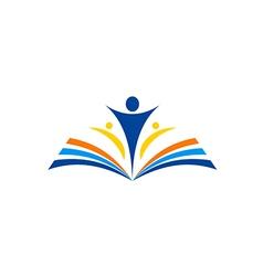 book learn education school logo vector image