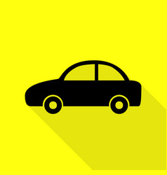 Car sign black icon with flat style vector