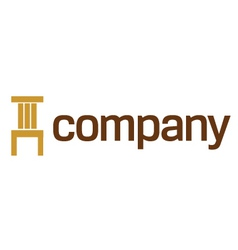 chair logo furniture vector image