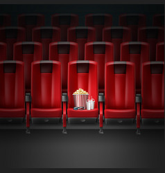 cinema movie theater vector image vector image