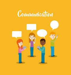 Communication speech bubble vector