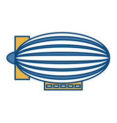 Dirigible ballooon icon vector