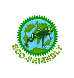 Earth friendly sign vector
