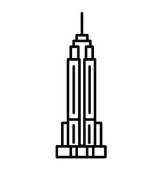 Empire state building line icon sign vector