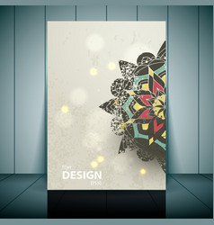 Fashion brochure flyer magazine cover vector