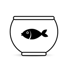 Fish in bowl icon design vector