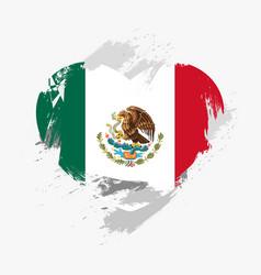 Flag of mexico vector