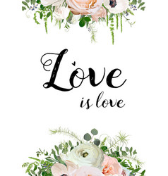 floral design card design pink rose anemone vector image vector image