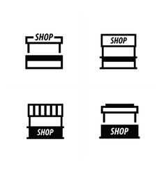 food trolley icons vector image vector image