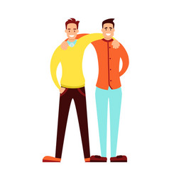 friendship of adult men vector image