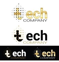 graphic geometric tech logofor your company vector image vector image
