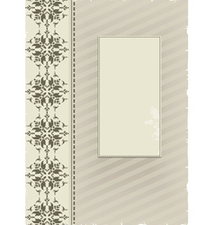 gray ornamental background vector image