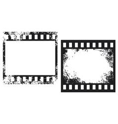 grunge film frames vector image vector image