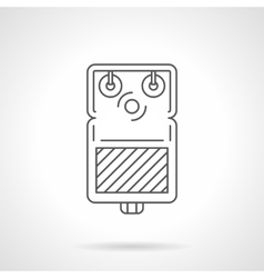 Guitar pedal flat line icon vector image