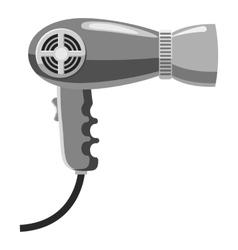 Hairdryer icon gray monochrome style vector