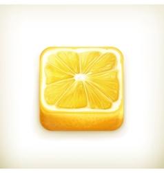 Lemon app icon vector image