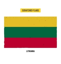 Lithuanian grunge flag with little scratches on vector