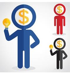 MoneyHead vector image vector image