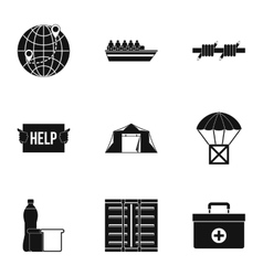 People fugitives icons set simple style vector