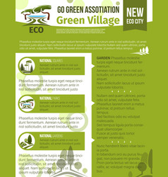 poster for green garden association vector image