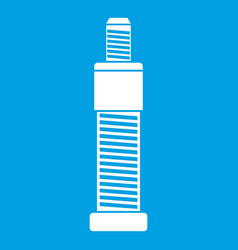 screw and bolt icon white vector image