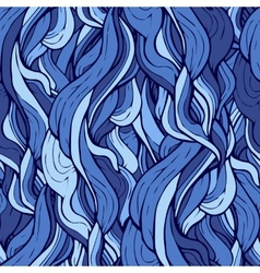 Seamless pattern with stylized blue curly hair vector image