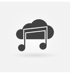 Sound cloud black icon or logo vector